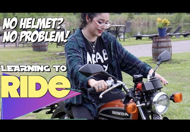 Learning to ride a motorcycle the old fashioned way