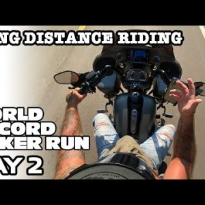 World Record Poker Run across states on the way to Sturgis Buffalo Chip Day 2 long distance riding