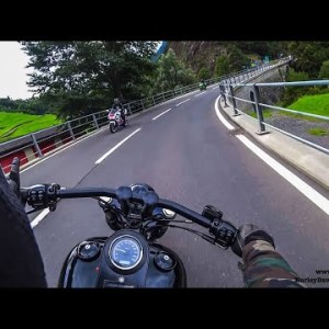 Harley-Davidson riding with low RPM