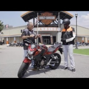 """Motorcycle """"Safety First"""" with Law Tigers and Harley Davidson"""