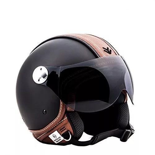 Jet Black Motorcycle Helmet
