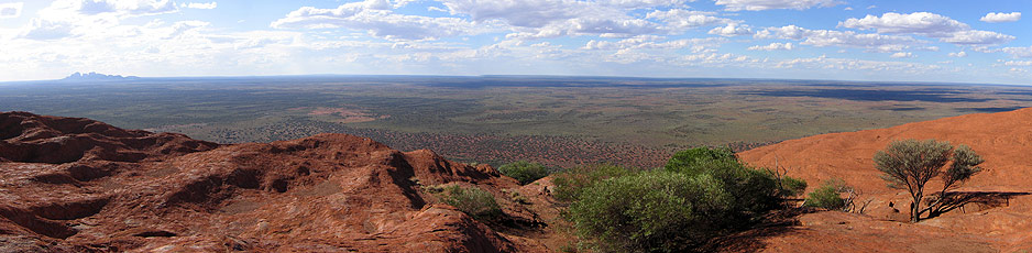 Uluru surrounds Cross-Continent Australian outback guided motorcycle adventure
