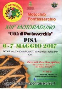"""13° raduno """"Città di  Pontasserchio"""" - 7 maggio 2017"""