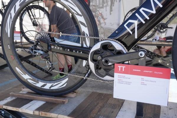 SRAM Force 1 single chainring group for triathlete Jordan Rapp