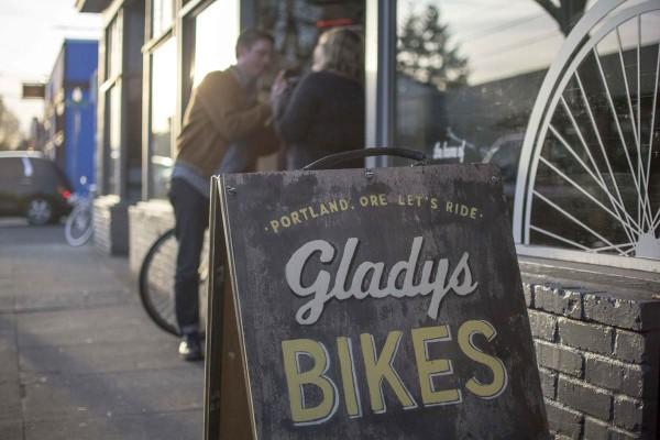 Gladys bikes sign