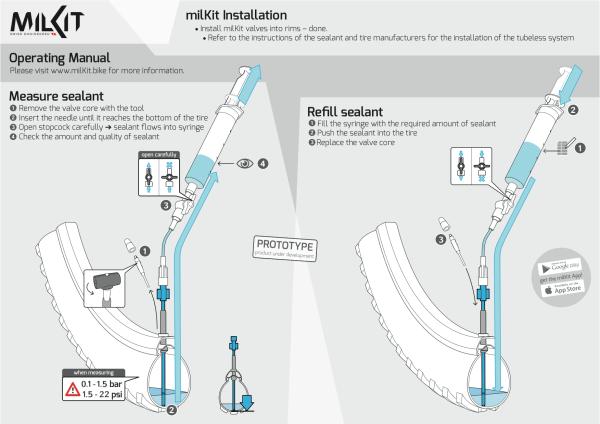 Milkit tubeless sealant measuring device mountain bike  (1)