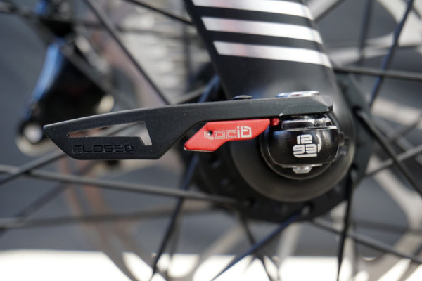 Naild locking quick release thru axle system for road cyclocross and gravel bikes appears on Marin bikes for 2016