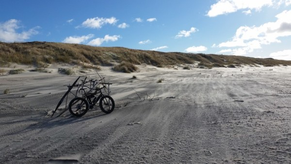 bikerumor pic of the day  on the beach of the Curonian Spit, Lithuania. Bike: Surly Pugsley.