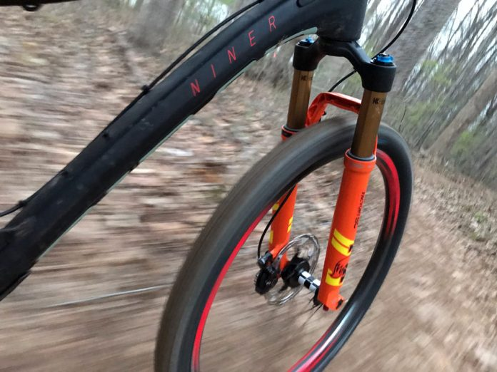 first ride review of the new Fox 34 SC mountain bike fork