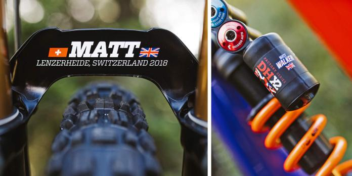 2018 UCI MTB World Championship Lenzerheide, Switzerland - custom DH downhill mountain bikes