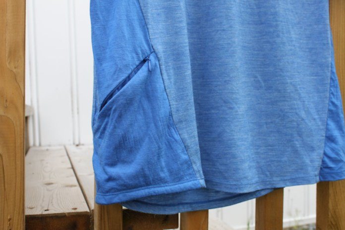 Shower's Pass Apex Merino Tech Tee, side pocket