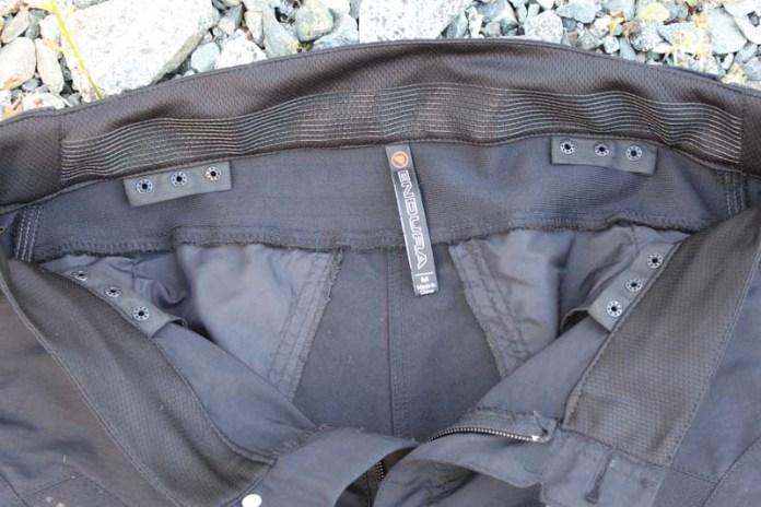 Endura Singletrack trail pants, clickfast buttons