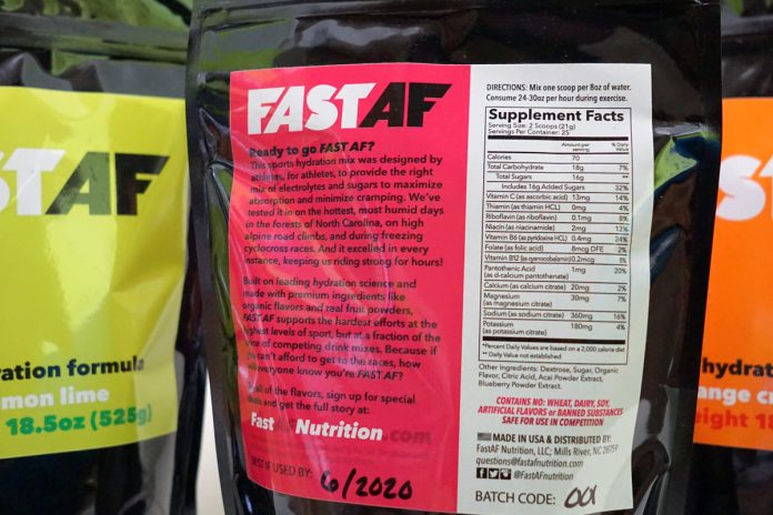 FastAF Hydration is an affordable sports drink mix with organic flavors and real fruit powders that is approved for all sports