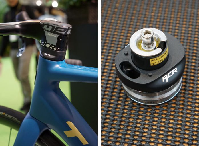 how does FSA ACR integrated stem and headset work to hide the cables on a road bike
