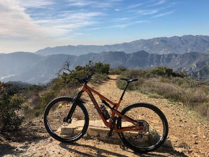 bikerumor pic of the day mountain biking g Table top of the Temescal Fire Road, Topanga State Park, Topanga CA.