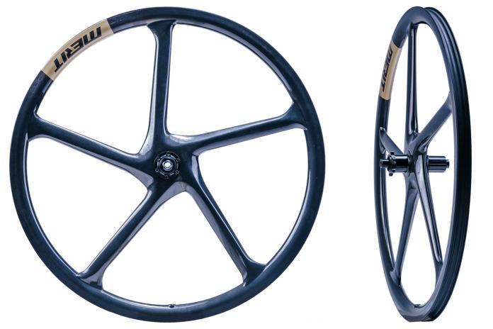 Merit Windmillaero 5-spoke hookless tubeless carbon gravel bike all-road wheels