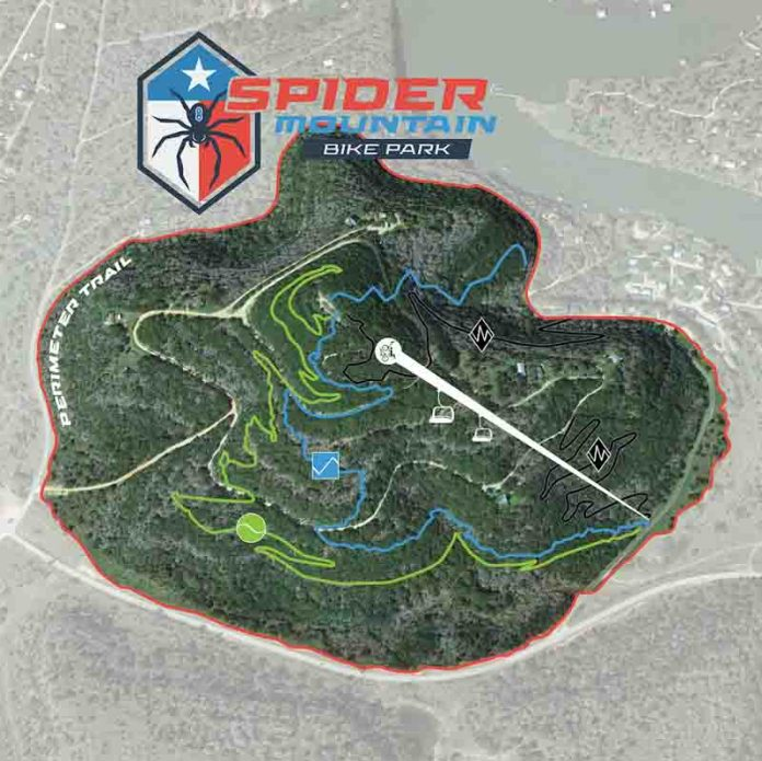 Spider Mountain Bike Park, Texas, trail map