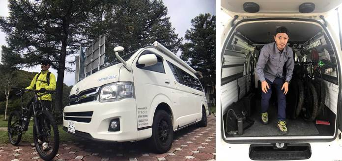 Vanlife is alive and well in Japan, with the Toyota Hi-Ace being a very popular option. Compass House uses one for their shuttle.