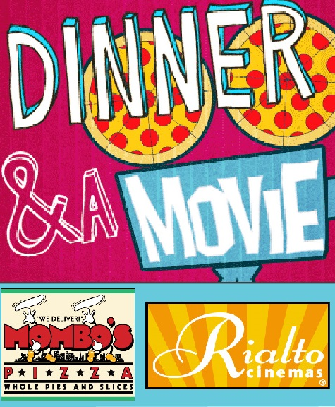 Dinner & Movie for Two  at Mambo's Pizza & Rialto Cinemas (Retail Value: $72)