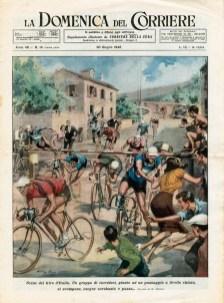 Achille Beltrame, Giro d'Italia 1946 corridori ad un passaggio a livello