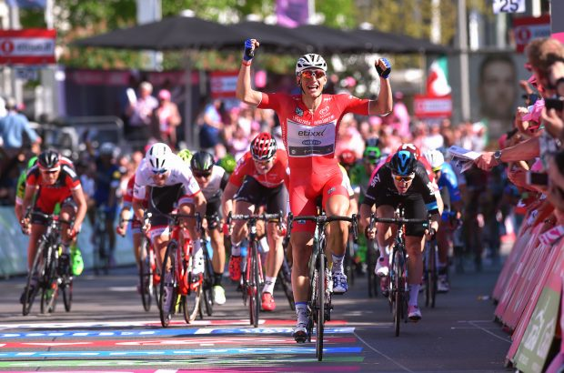 Cycling: 99th Tour of Italy 2016 / Stage 3Arrival / Marcel KITTEL (GER) Red Points Jersey Celebration / Elia VIVIANI (ITA)/ Andre GREIPEL (GER)/ Giacomo NIZZOLO (ITA)/ Rick ZABEL (GER)/ Nijmegen-Arnhem (190km)/ Giro / © Tim De Waele