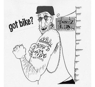 Bike cartoon by Bob Lafay