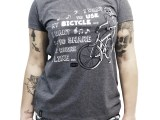 Camiseta casual Feminina Bicycle Race - Cinza mescla