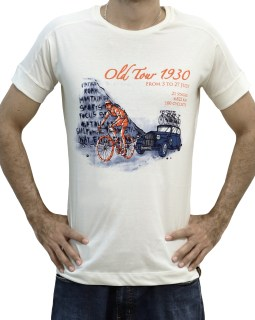 Camiseta casual Old Tour 1930 - Bege