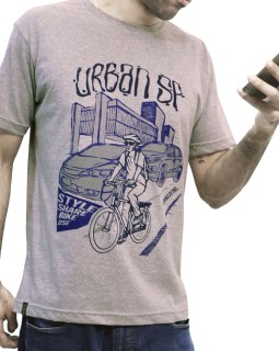 Camiseta casual Urban SP - Urban Series cinza
