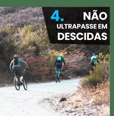 5 Dicas iniciantes mountain bike - não ultrapasse em descidas