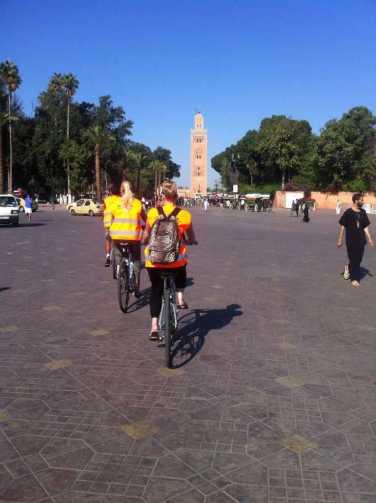 Biking at Djemaa el Fna