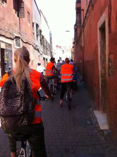 Biking in the Souks