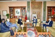 ناصر بوريطة يستقبل رئيس الاتحاد الدولي لكرة القدم (فيفا)