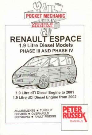 Peter Russek reparasjonshåndbok Renault Espace Mk3 Mk4 Diesel  Haynes reperasjonshåndbøker og