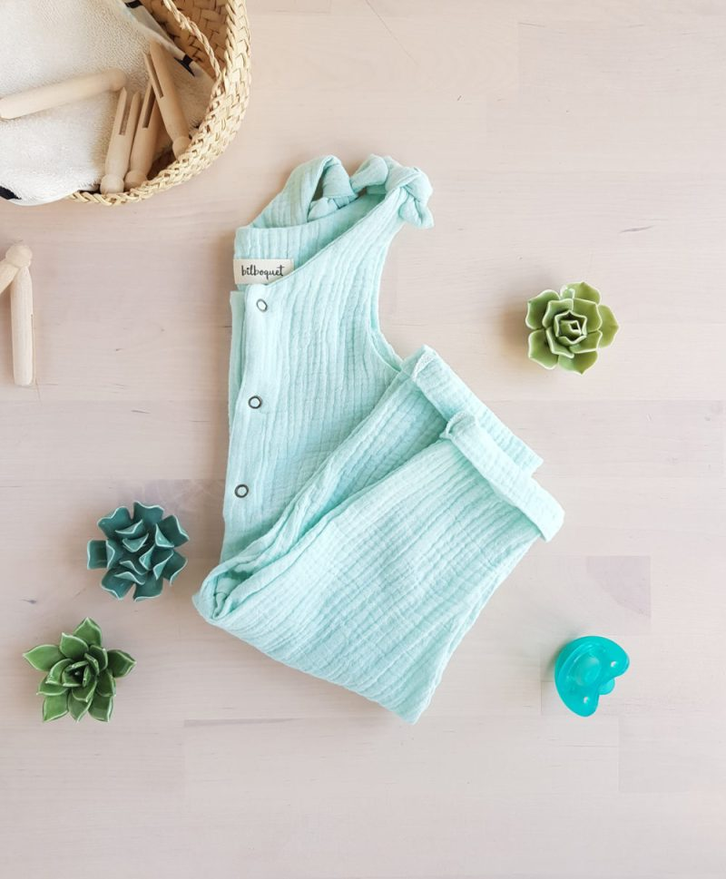 salopette bebe large vetement enfant combinaison vert ajustable lyon france