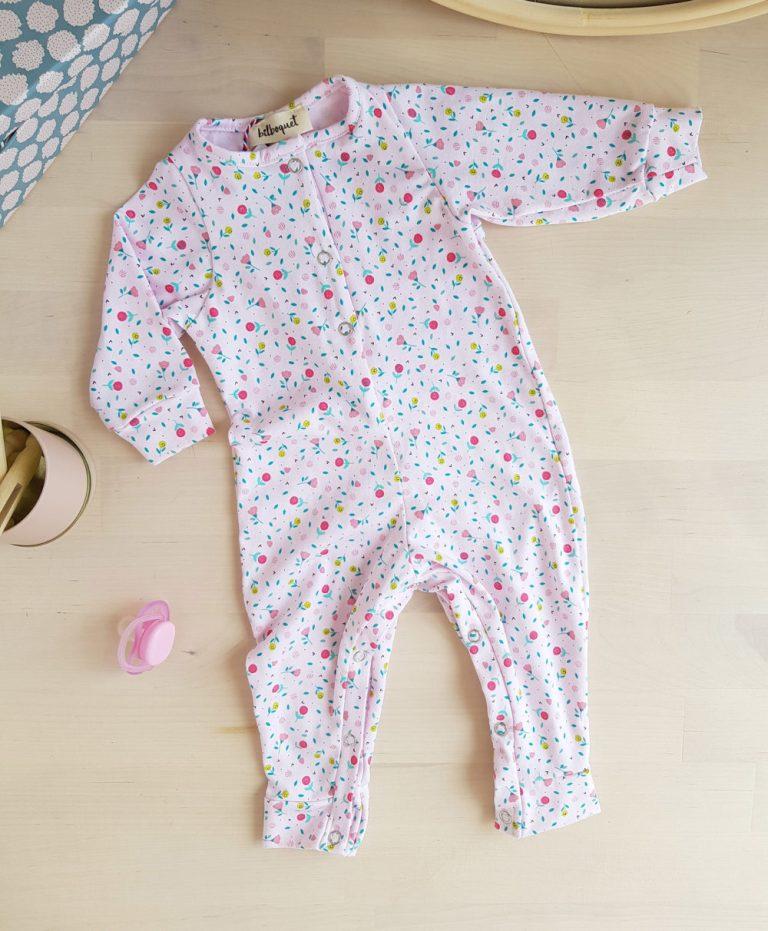 ensemble bébé fille rose fleur manche jambe longue