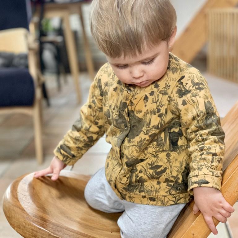 vetement bebe garcon lyon cadeau naissance made in france fabrication francaise boutique enfant veste chaude jaune