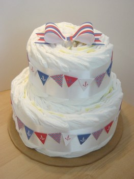 Ahoy! Nautical Diaper cake