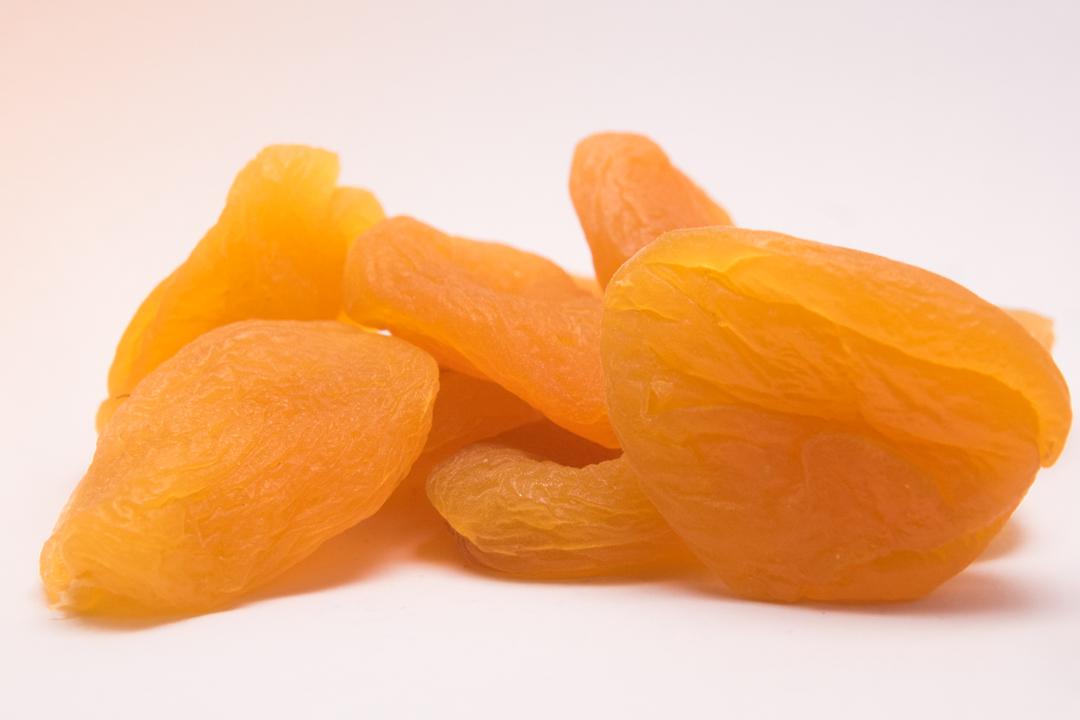 albaricoques secos melocotón fruta escarchada