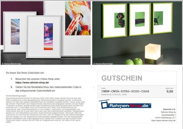 Geschenkggutschein von Rahmen-Shop.de