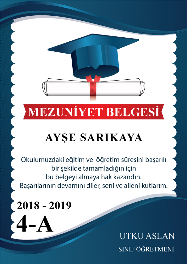mezuniyet diplama SON1111 - Mezuniyet Belgeleri