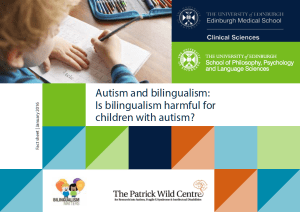 bilingualism and autism factsheet cover