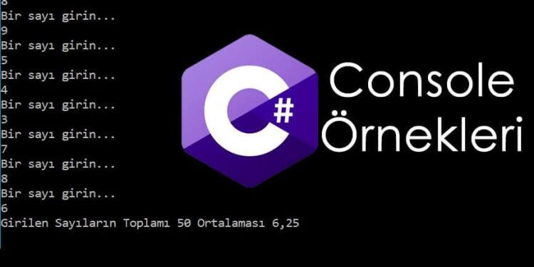 C# Console Örnekleri – Çift sayı girilene kadar sayıların ortalamasını bulan program