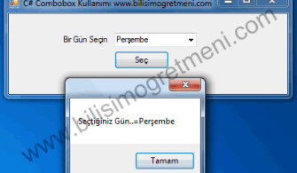 C# ComboBox Kullanımı, Özellikleri