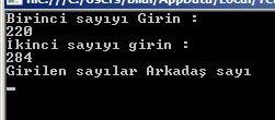 C# Örnekleri – Arkadaş Sayı Bulma Console Uygulaması