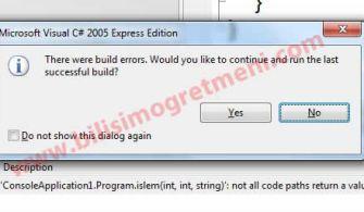 C# Not All Code Paths Return A Value C# Hatası
