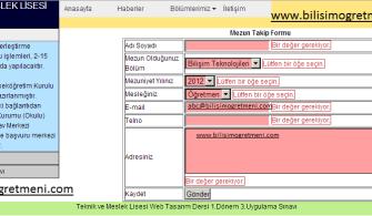 Web Tasarım ve Programlama 1.Dönem 3.Uygulama Sınavı (Css-Spry)