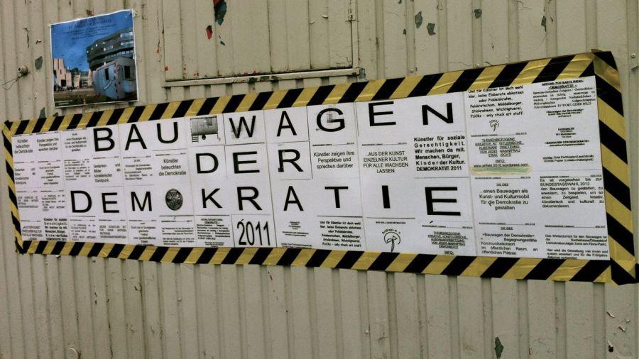 Bauwagen der Demokratie – Eröffnung