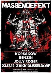 MASSENDEFEKT – HEIMSPIEL mit Korsakow, Benzin & Jolly Roger im ZAKK
