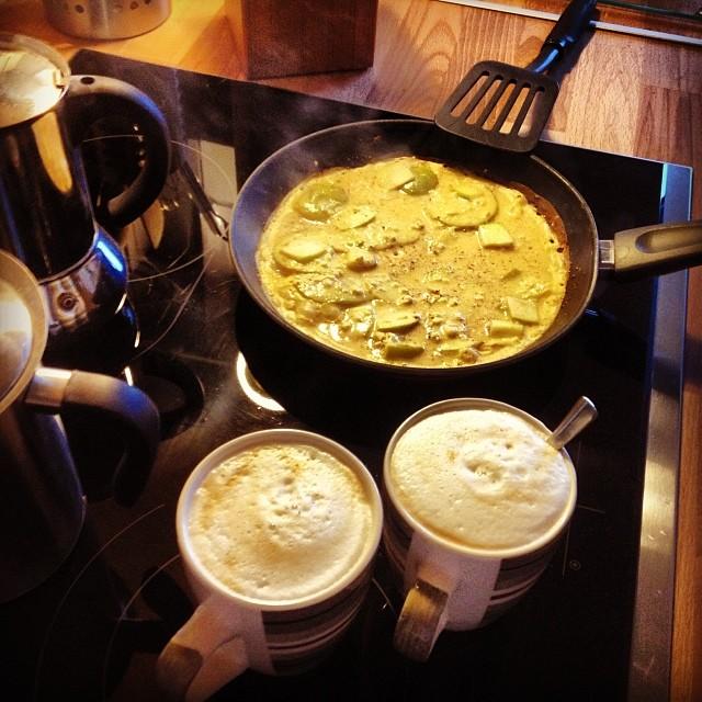 Frühstückszeit.
